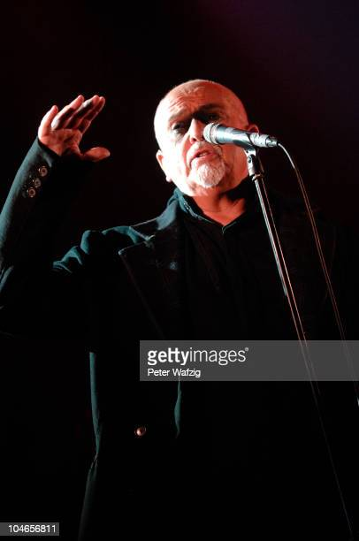 Peter Gabriel performs on stage at the LanxessArena on October 02 2010 in Cologne Germany