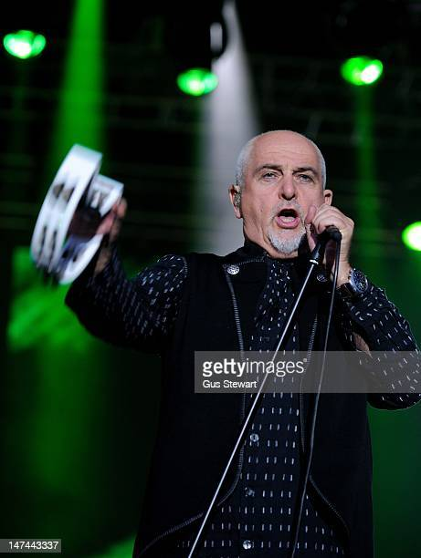 Peter Gabriel performs on stage during Hop Farm Festival at Hop Farm Family Park on June 29 2012 in Paddock Wood United Kingdom