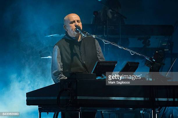 Peter Gabriel performs on stage during the 'Rock Paper Scissors' North American Tour at Madison Square Garden on June 27 2016 in New York City