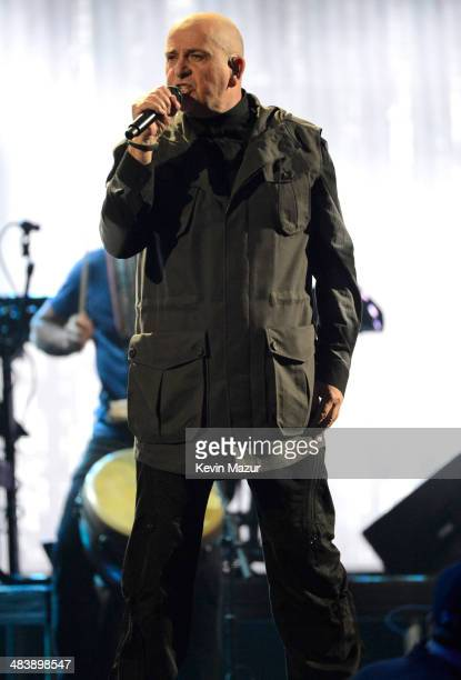 Peter Gabriel performs onstage at the 29th Annual Rock And Roll Hall Of Fame Induction Ceremony at Barclays Center of Brooklyn on April 10 2014 in...