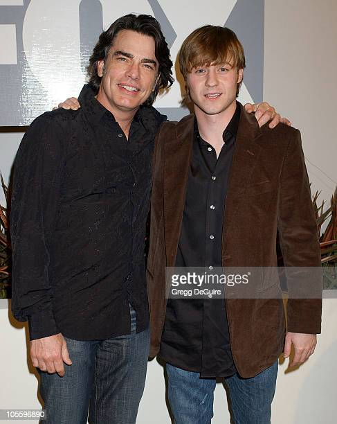 """Peter Gallagher and Benjamin McKenzie during Fox TV """"White Hot Winter"""" Network Party at Meson G Restaurant in Los Angeles, California, United States."""