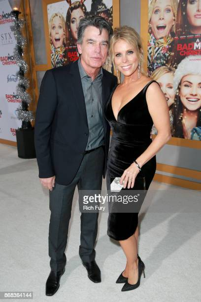 Peter Gallagher and Cheryl Hines attend the premiere of STX Entertainment's 'A Bad Moms Christmas' at Regency Village Theatre on October 30 2017 in...