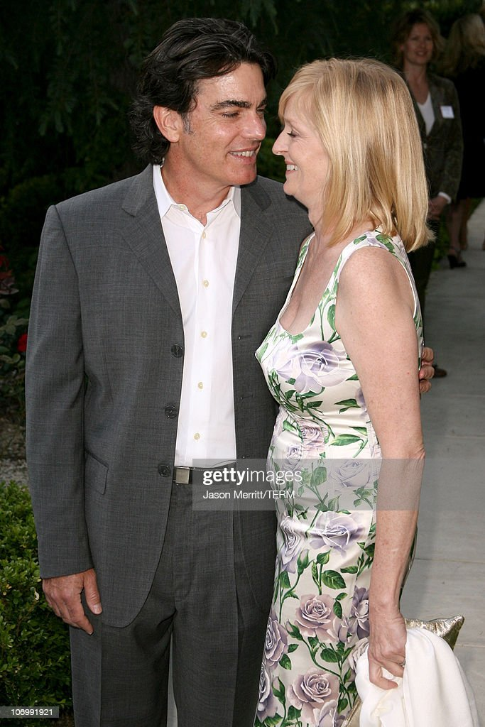 Peter Gallagher and his wife during Chrysalis' 5th Annual Butterfly Ball at The Italian Villa Carla & Fred Sands in Bel Air, California, United States.