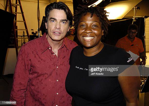 Peter Gallagher and Jehmu Greene head of Rock the Vote *Exclusive*
