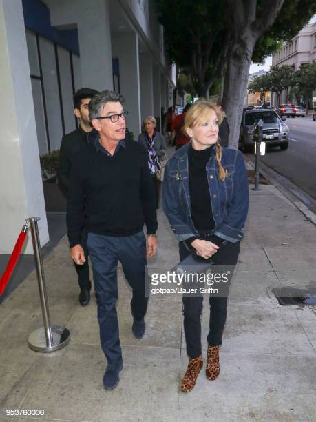 Peter Gallagher and Paula Harwood are seen on May 01 2018 in Los Angeles California