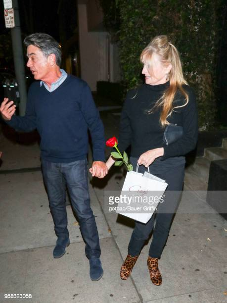 Peter Gallagher and Paula Harwood are seen on May 13 2018 in Los Angeles California