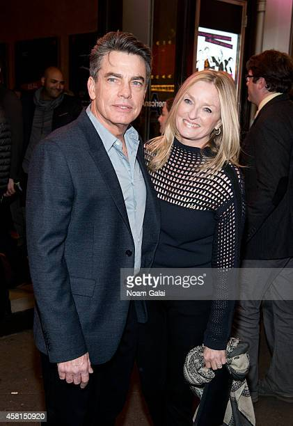 Peter Gallagher and Paula Wildash attend the opening night of The Real Thing on Broadway at American Airlines Theatre on October 30 2014 in New York...