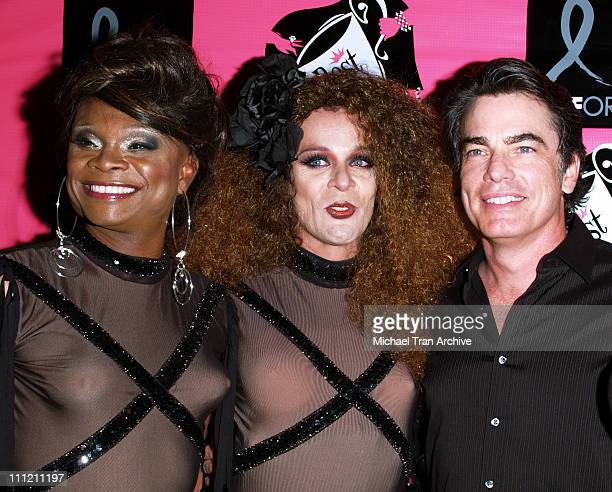 Peter Gallagher and The Dobermans during 4th Annual Best in Drag Show to Benefit Aid for AIDS at WilshireEbell Theater in Los Angeles California...