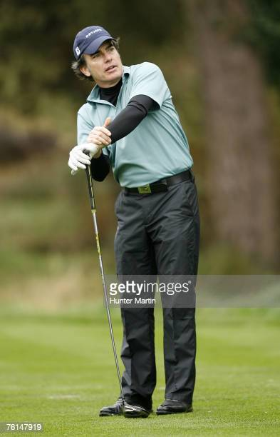 Peter Gallagher during the first round of the 2007 Pebble Beach National Pro-Am golf tournament at Spyglass Hill Golf Course in Pebble Beach,...