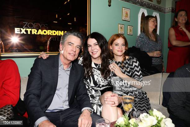 Peter Gallagher Jane Levy and Lauren Graham at Tramp Stamp Granny's on February 04 2020 in Los Angeles California