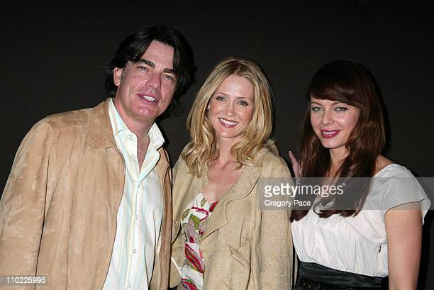 Peter Gallagher Kelly Rowan and Melinda Clarke during 2005/2006 FOX Prime Time UpFront Inside Green Room and Party at Seppi's Restaurant and Central...