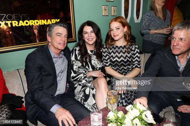 Peter Gallagher Lauren Graham and Jane Levy at Tramp Stamp Granny's on February 04 2020 in Los Angeles California