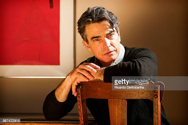 BRENTWOOD CA FEBRUARY 03 2014 Peter Gallagher photographed at his home in Brentwood Monday February 03 2014 The veteran actor Gallagher appeared on...