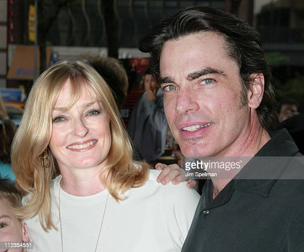 peter gallagher wife stock photos and pictures getty
