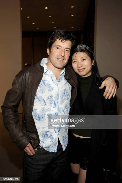 Peter Garfield and O Zhang attend TERENCE KOH JEFF KOONS MIKE KELLEY Exhibit Opening at Mary Boone Gallery on April 4 2009 in New York City
