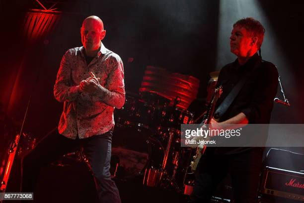 Peter Garrett and Martin Rotsey from Midnight Oil performs at the Fremantle Arts Centre on October 29 2017 in Fremantle Australia