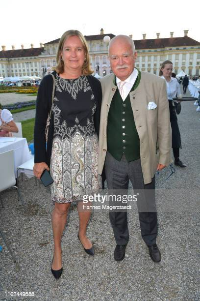 Peter Gauweiler and Eva Gauweiler during the Summer Reception of the Bavarian State Parliament at Schleissheim Palace on July 16, 2019 in Munich,...