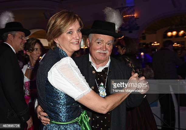 Peter Gauweiler and his wife Eva attend the Filserball 2015 at Loewnbraeukeller on February 6, 2015 in Munich, Germany.