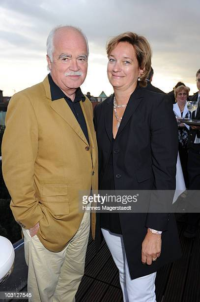 Peter Gauweiler and his wife Eva attend the summer reception at the Hotel Bayerischer Hof on July 27, 2010 in Munich, Germany.