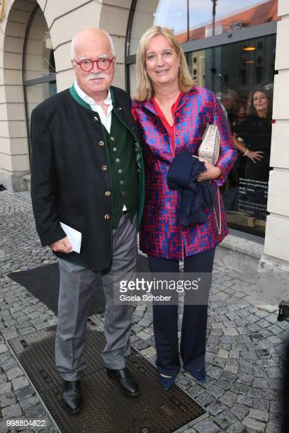 Peter Gauweiler and his wife Eva Gauweiler during the Mercedes-Benz reception at 'Klassik am Odeonsplatz' on July 14, 2018 in Munich, Germany.