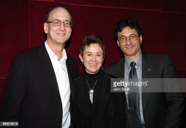 Peter Geld Dean Elizabeth M Daley and Dean Robert A Cutietta at a reception after a concert with YoYo Ma featuring the film music of Ennio Morricone...