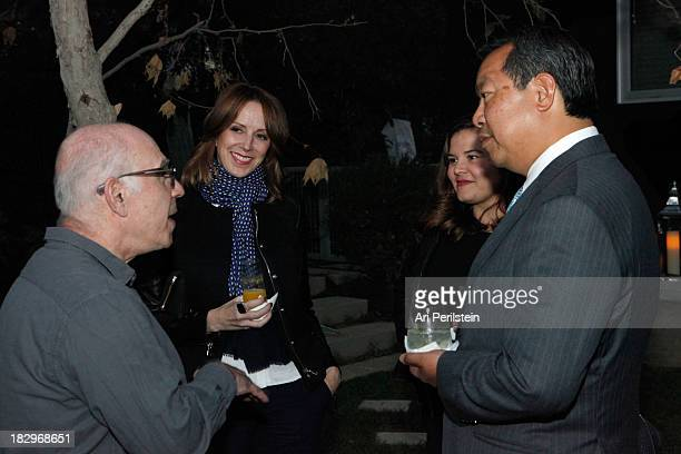 Peter Gelles LA Confidential Publisher Alison Miller and guests attend Los Angeles Confidential And Merrrill Lynch Wealth Management Celebrate LAXART...