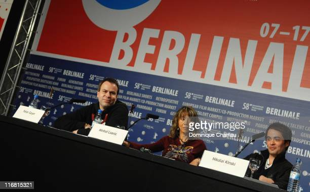 Peter Geyer director Minhoi Loanic and Nikolai Kinski attend the Jesus Christ Saviour photocall during day five of the 58th Berlinale International...