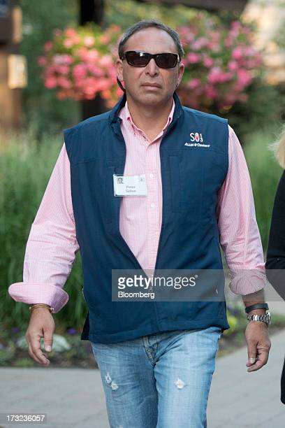 Peter Gillon partner at the law firm Pillsbury arrives for a morning session during the Allen Co Media and Technology Conference in Sun Valley Idaho...