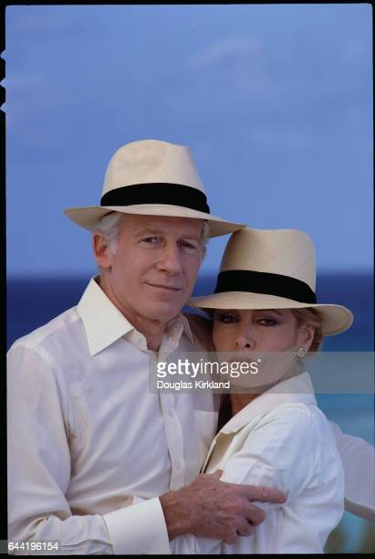Peter Gimbel and Elga Andersen Wearing Matching Clothing