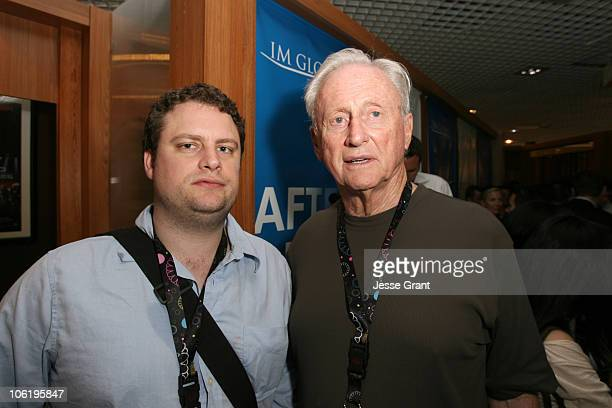 Peter Goldwyn and Samuel Goldwyn Jr during 2007 Cannes Film Festival Viewing of An Untitled Project by Larry Charles at Riviera Suite N7 in Cannes...