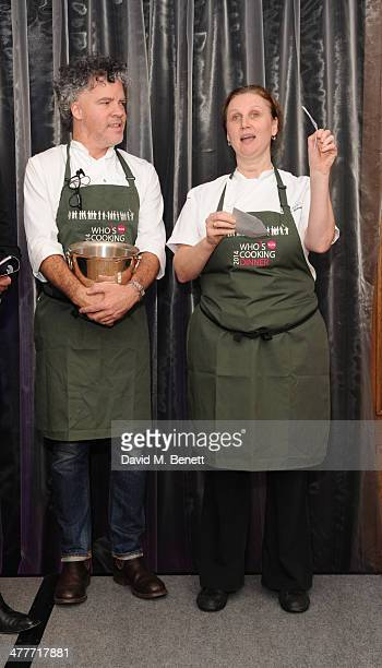 Peter Gordon and Angela Hartnett attends the 'Who's Cooking Dinner' charity event featuring 20 of the capital's finest chefs cooking dinner for 200...