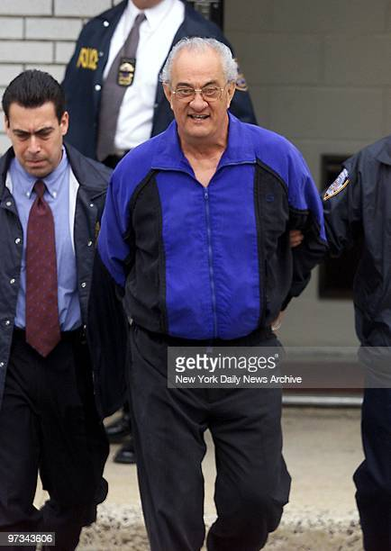 Peter Gotti brother of jailed mob boss John Gotti is led out of the Waterfront Commission by police after being arrested along with 16 other alleged...
