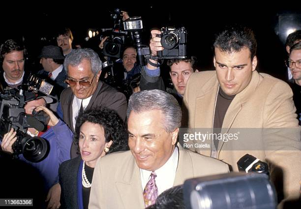Peter Gotti John Gotti and the Press during John Gotti At The New York Federal Courthouse at New York Federal Court House in New York City New York...