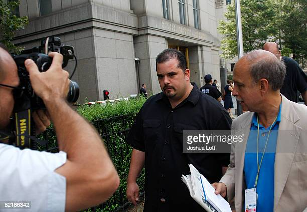 Peter Gotti leaves his brother John Junior Gotti's trial at the Federal Court House August 5 2008 in New York City John Junior Gotti is facing...