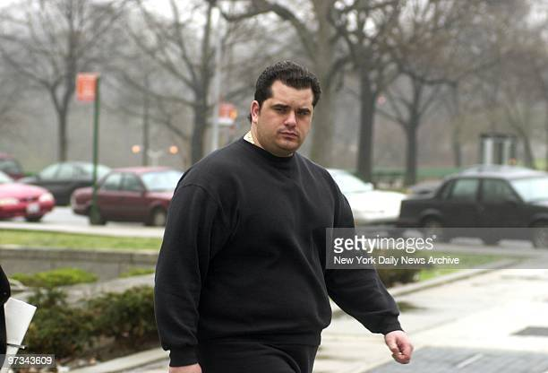 Peter Gotti the youngest son of mob boss John Gotti leaves court in Kew Gardens Queens Gotti pleaded guilty to driving without a license and was...