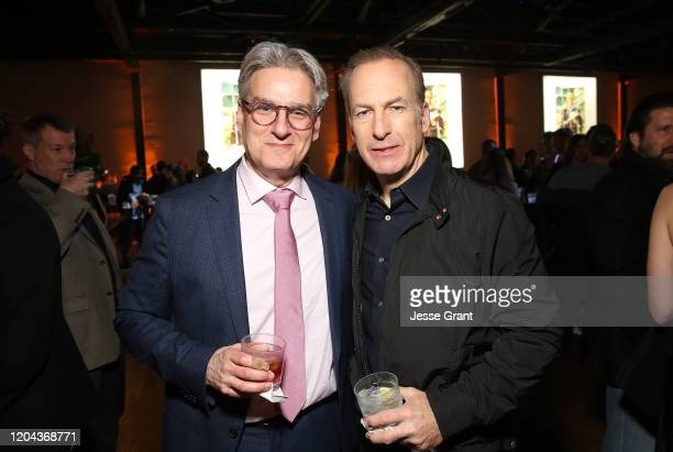 """Peter Gould and Bob Odenkirk attend the premiere of AMC's """"Better Call Saul"""" Season 5 After Party on February 05, 2020 in Los Angeles, California."""