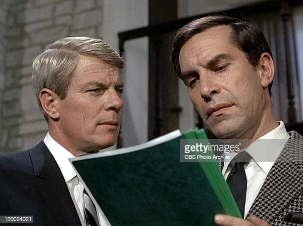 Peter Graves as James Phelps and Martin Landau as Rollin Hand in the Mission Impossible episode 'Live Bait' Original airdate February 23 1969 Image...