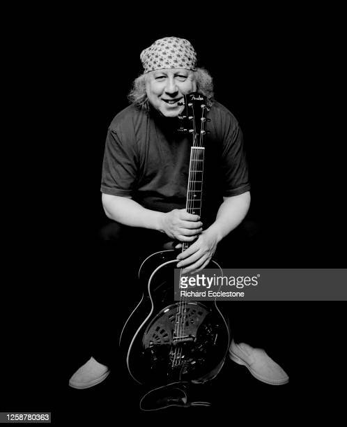 Peter Green, English blues rock singer-songwriter and guitarist and the co-founder of Fleetwood Mac, portrait at Fairfield Halls, Croydon, United...