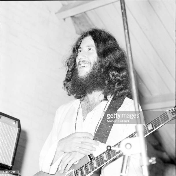 Peter Green of Fleetwood Mac performs on stage in Barnet London 1970