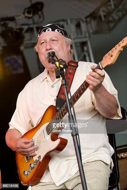 Peter Green performs on stage on the first day of Cornbury Festival on July 11 2009 in Cornbury Park Charlbury Oxfordshire United Kingdom