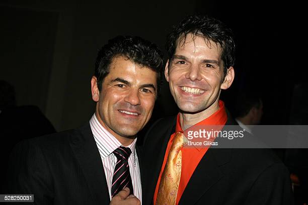 Peter Gregus and J Robert Spencer during Opening Night After Party for Jersey Boys on Broadway at The August Wilson Theater and The Marriott Marquis...
