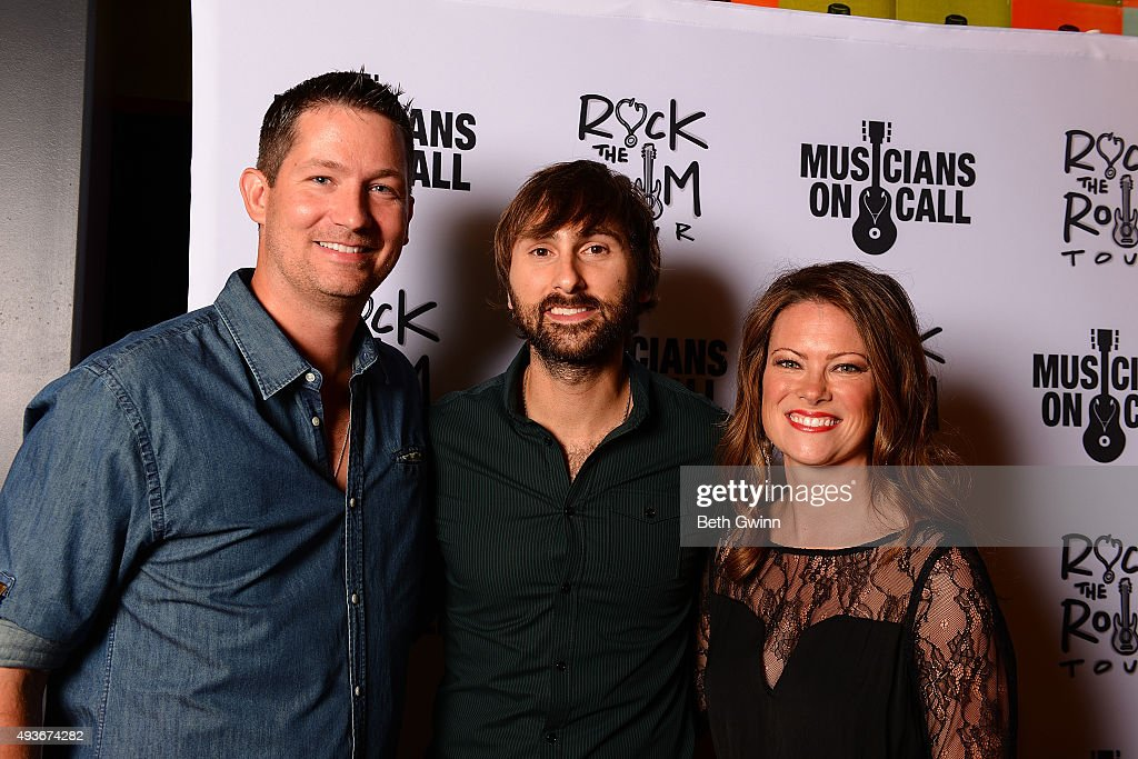 Peter Griffin, Dave Haywood, and Kelli Cashiola on the red carpet before the Musicians on Call at City Winery Nashville on October 21, 2015 in Nashville, Tennessee.