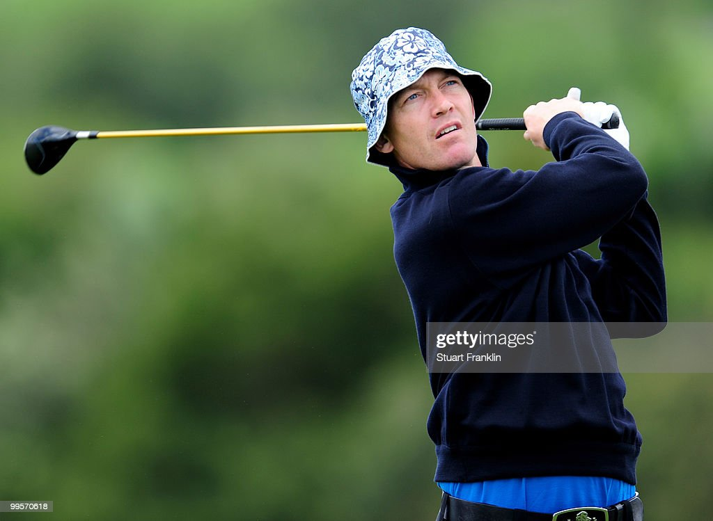 Peter Gustafsson of Sweden plays his tee shot on the sixth hole during the third round of the Open Cala Millor Mallorca at Pula golf club on May 15, 2010 in Mallorca, Spain.