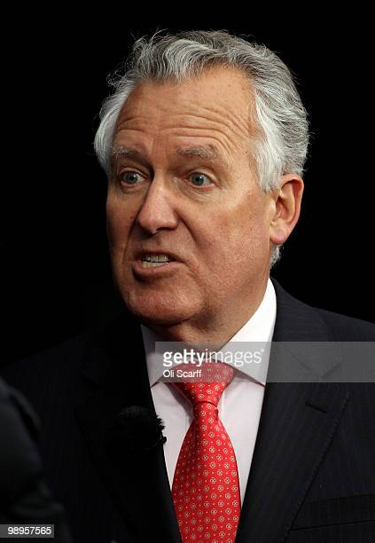 Peter Hain the Welsh Secretary gives an interview adjacent to the Houses of Parliament on May 10 2010 in London England Prime Minister Gordon Brown...