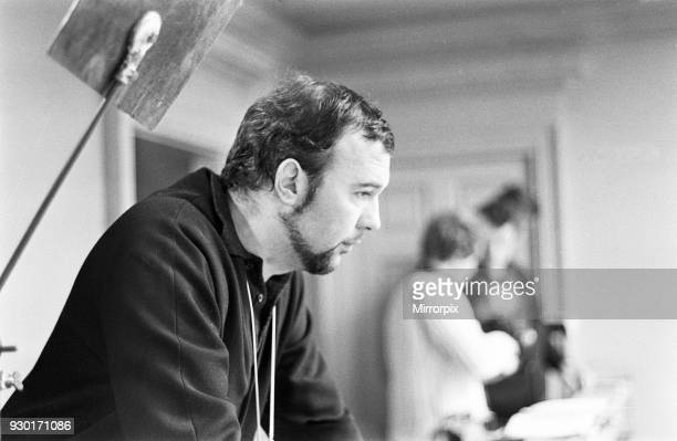 Peter Hall seen here on location at the Compton Verney Estate Warwickshire during the filming of the Royal Shakespeare Company's first colour film of...