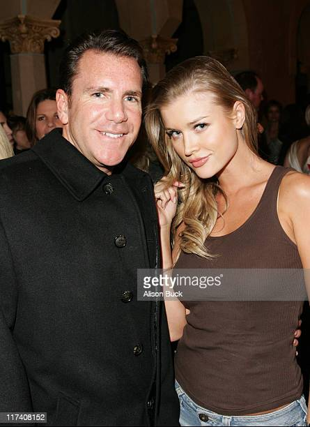 Peter Hamm Jr and Joanna Krupa during 11th Victoria's Secret Fashion Show After Party for Level Vodka at Roosevelt Hotel in Hollywood CA United States
