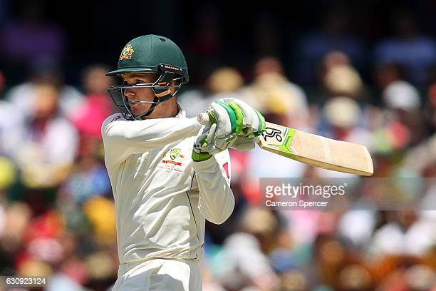 Peter Handscomb of Australia bats during day two of the Third Test match between Australia and Pakistan at Sydney Cricket Ground on January 4 2017 in...