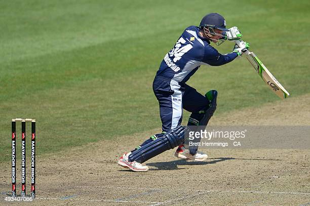 Peter Handscomb of Victoria bats during the Matador BBQs One Day Cup match between Tasmania and Victoria at North Sydney Oval on October 20 2015 in...