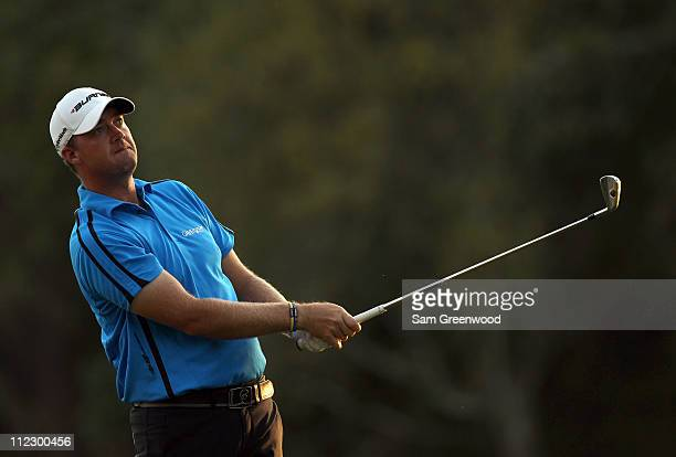 Peter Hanson of Sweden plays a shot during the first round of the Transitions Championship at Innisbrook Resort and Golf Club on March 17 2011 in...