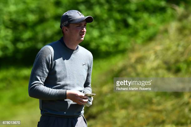 Peter Hartley of Barnard Castle GC looks on during the PGA Assistants Championship North Qualifier at Hesketh Golf Club on May 3 2017 in Southport...